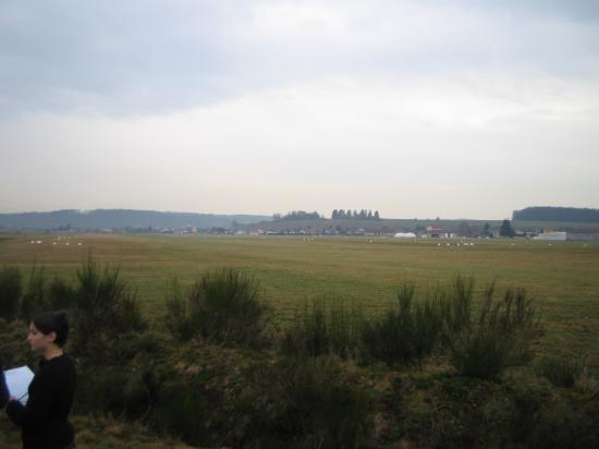 Le paysage visible à la descente du bus
