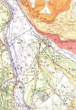 Carte géologique de la sortie